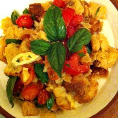 Panzanella Salad w/ Mozzarella Fresca