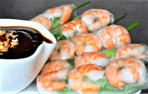 Vietnamese Fresh Shrimp Spring Roll